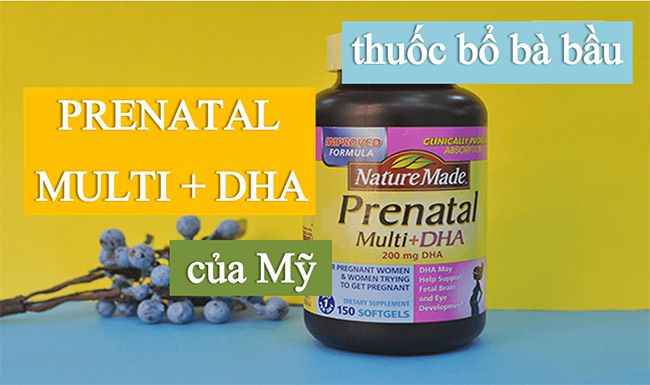 vitamin bo sung cho ba bau nature made prenatal multi dha my anh 5